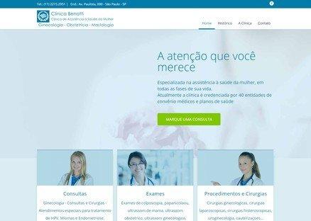 Cliente de Web Design - Clínica Benatti