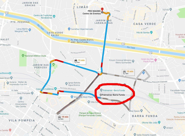 Estação Palmeiras Barra Funda