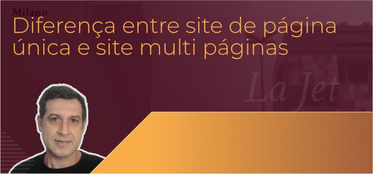 Diferença entre site de página única e site multi páginas